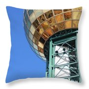 Sunsphere In Knoxville, Tn Throw Pillow