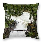 Sunwapta Falls Throw Pillow