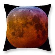 Super Wolf Blood Moon Lunar Eclipse Of 2019 Throw Pillow