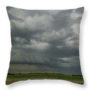 Supercells In Nebraska 049 Throw Pillow