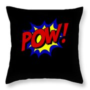 Superhero Pow Throw Pillow