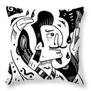 Surrealism Painter Throw Pillow