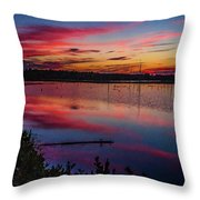 Sunset In The Pines Lands Throw Pillow by Louis Dallara