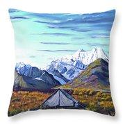Susitna River Camp Throw Pillow