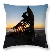 Swallowed By Time Throw Pillow