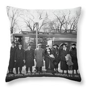 Swedish-american Line Special Party Throw Pillow