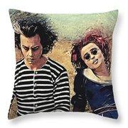 Sweeney Todd And Mrs. Lovett Throw Pillow