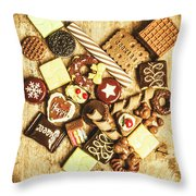Sweet Heart Treats Throw Pillow