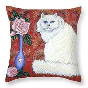 Sweetheart Cat Throw Pillow