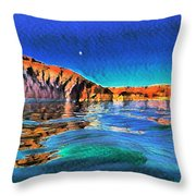 Swells And Reflections Lake Powell Throw Pillow