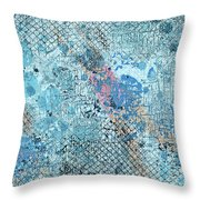 Swimming From Summer Throw Pillow