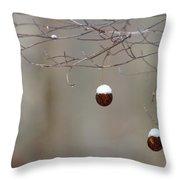 Sycamore Snowbells  Throw Pillow