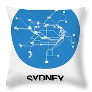 Sydney Blue Subway Map Throw Pillow
