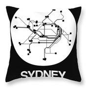 Sydney White Subway Map Throw Pillow