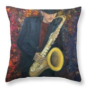 Symphony Of Colours Throw Pillow