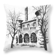 T C Powers Mansion Helena Montana Throw Pillow