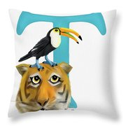 T Is For Two Throw Pillow
