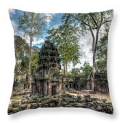 Ta Prohm Temple Inside Angkor Complex, Cambodia. Throw Pillow