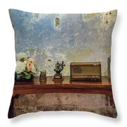 Table Of History Throw Pillow