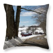 Take A Ride Down To The Jenne Farm Throw Pillow by Jeff Folger