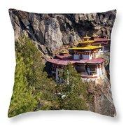 Taktsang Monastery  Throw Pillow