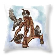 Talk Around The Watercooler Throw Pillow