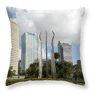 Tampa Skyline, 2007 Throw Pillow