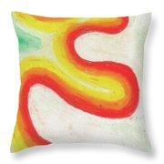 Tangerine Swoosh Throw Pillow