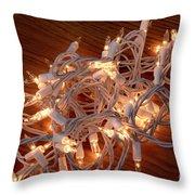 Tangled Lights Throw Pillow