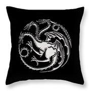 Targaryen Dragon Sigil Throw Pillow