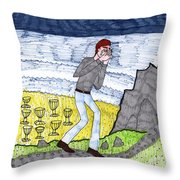 Tarot Of The Younger Self Eight Of Cups Throw Pillow