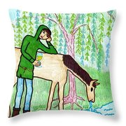 Tarot Of The Younger Self Knight Of Cups Throw Pillow