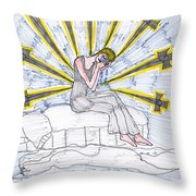 Tarot Of The Younger Self Nine Of Swords Throw Pillow
