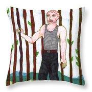 Tarot Of The Younger Self Nine Of Wands Throw Pillow
