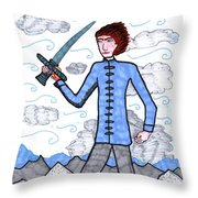 Tarot Of The Younger Self Page Of Swords Throw Pillow