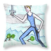 Tarot Of The Younger Self Queen Of Swords Throw Pillow