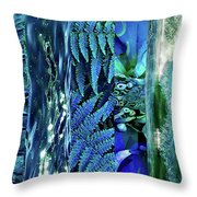 Teal Abstract Throw Pillow