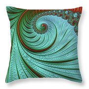 Teal And Red Throw Pillow