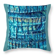 Teal Palm Bark Throw Pillow by Cindy Greenstein