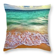 Teal Shore  Throw Pillow by Cindy Greenstein