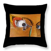 Tear Duct Throw Pillow