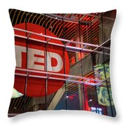 Ted In Vancouver Throw Pillow by Ross G Strachan