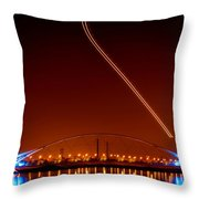 Tempe Town Lake Pedestrian Bridge Throw Pillow