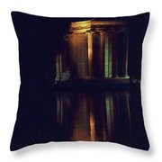 Temple Of Asclepius Throw Pillow