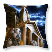 Temple Of Hercules In Kassel Throw Pillow