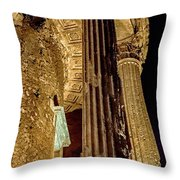 Temple Of Vesta Throw Pillow