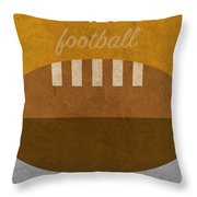 Tennessee Football Minimalist Retro Sports Poster Series 004 Throw Pillow