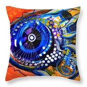 Tenured Acrimonious Fish Throw Pillow
