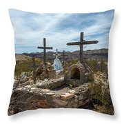 Terlingua Cemetery Throw Pillow