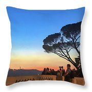 Terrazza Del Pincio Throw Pillow